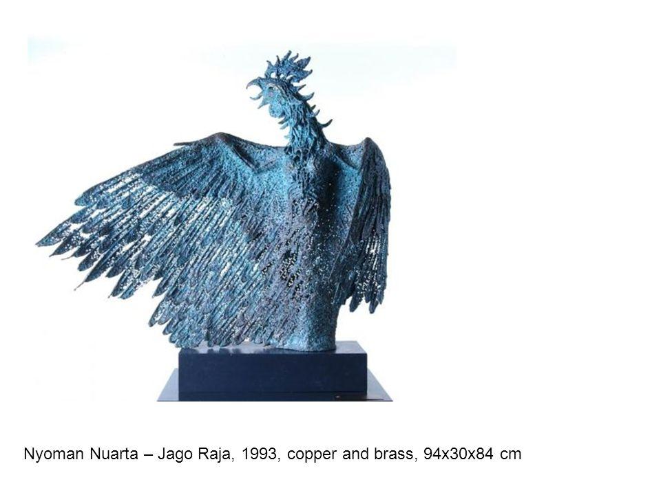 Nyoman Nuarta – Jago Raja, 1993, copper and brass, 94x30x84 cm