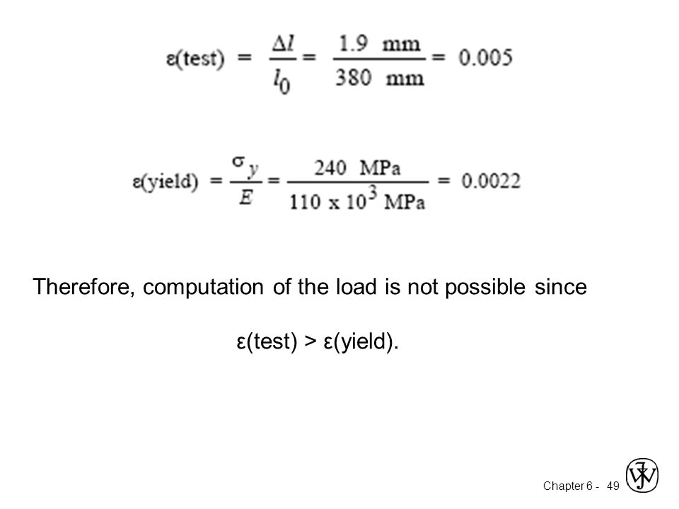 Therefore, computation of the load is not possible since