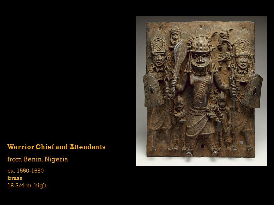 Warrior Chief and Attendants from Benin, Nigeria