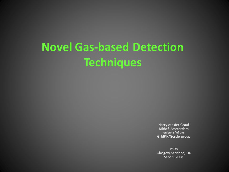 Novel Gas-based Detection Techniques