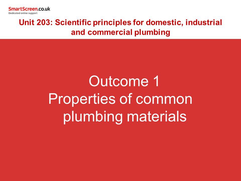 Properties of common plumbing materials