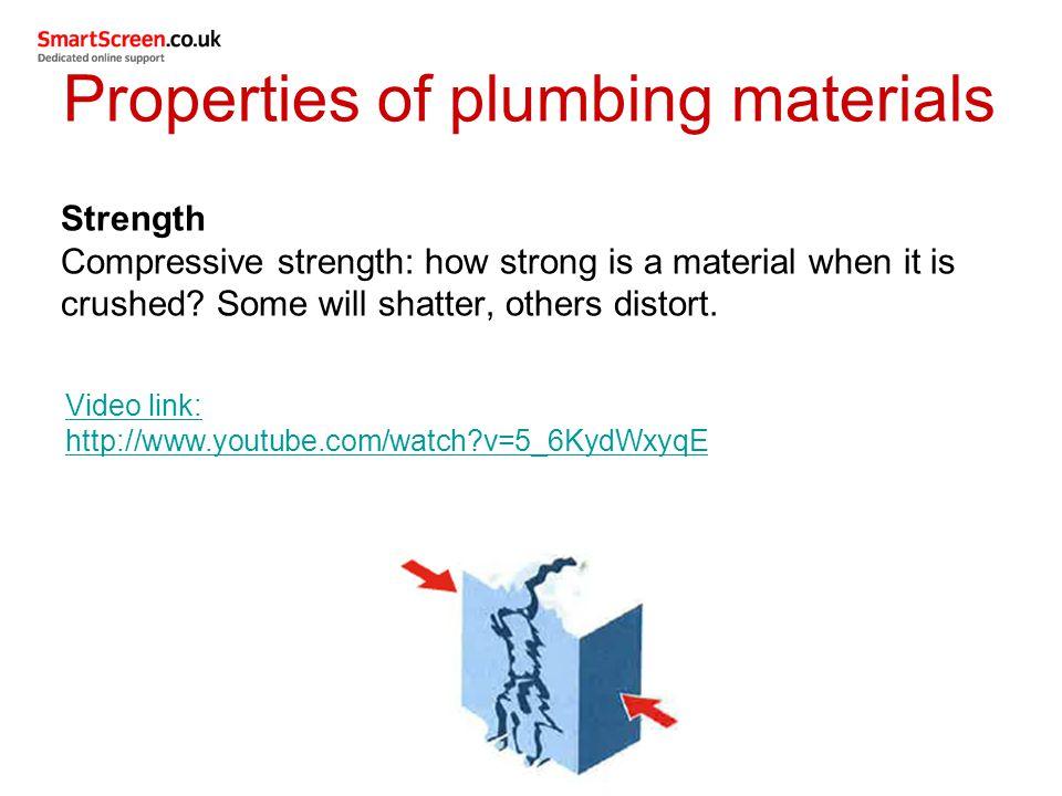 Properties of plumbing materials
