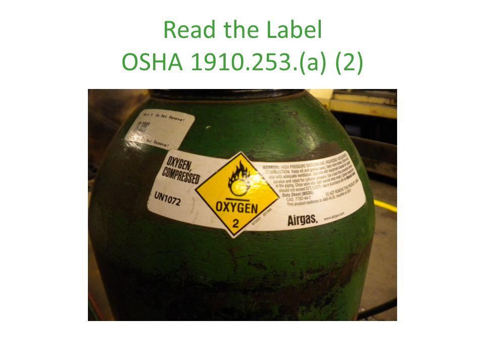 Read the Label OSHA 1910.253.(a) (2)