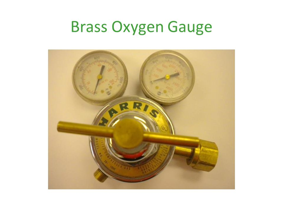 Brass Oxygen Gauge