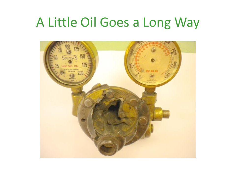 A Little Oil Goes a Long Way