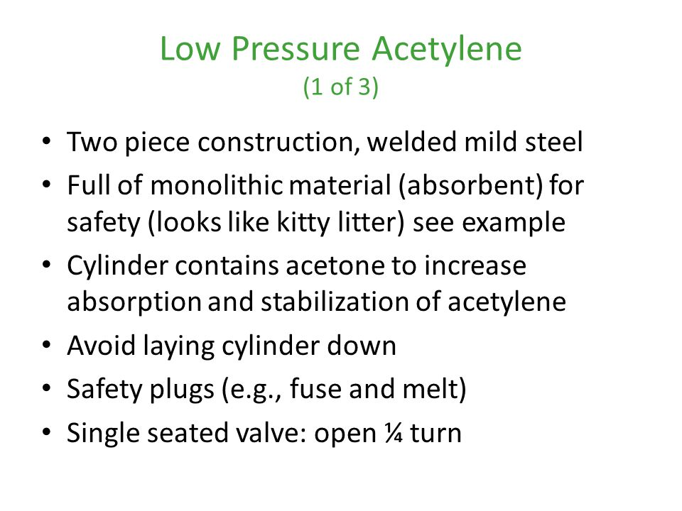 Low Pressure Acetylene (1 of 3)