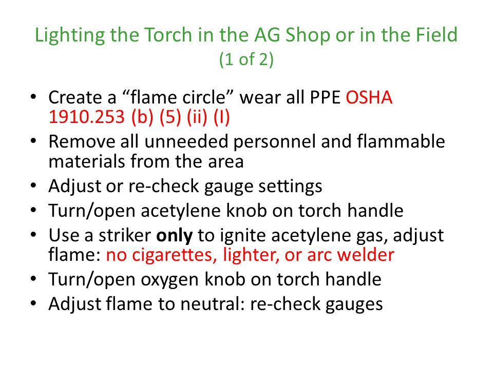 Lighting the Torch in the AG Shop or in the Field (1 of 2)