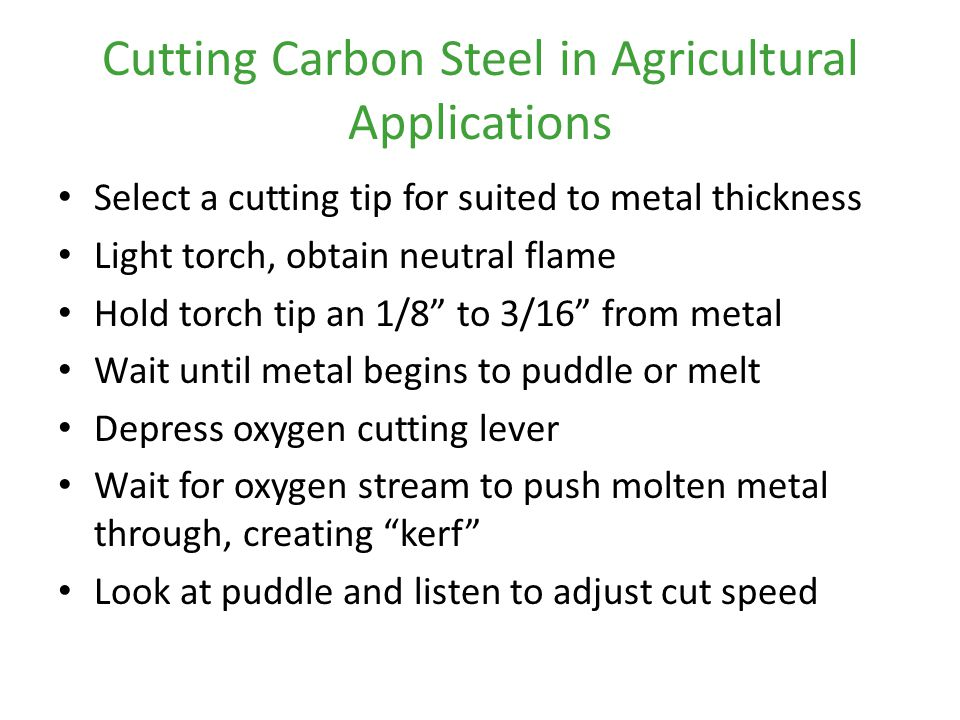 Cutting Carbon Steel in Agricultural Applications
