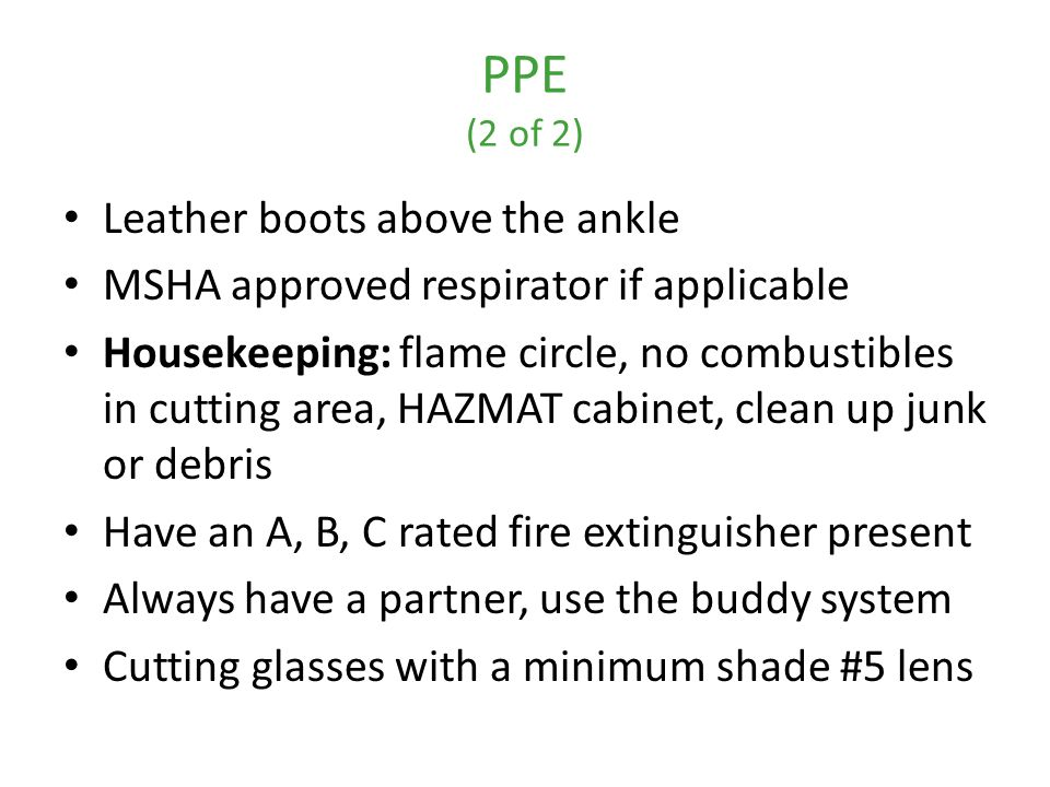 PPE (2 of 2) Leather boots above the ankle