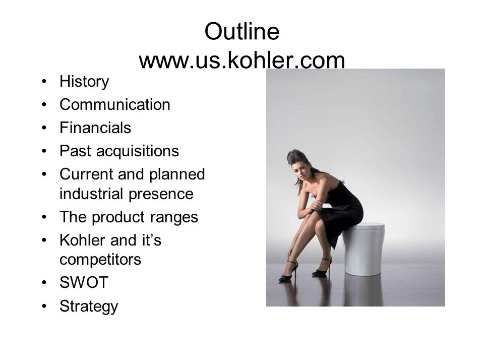 Outline www.us.kohler.com
