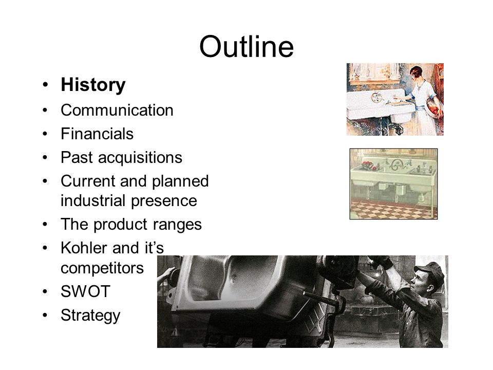 Outline History Communication Financials Past acquisitions
