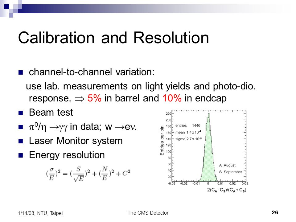 Calibration and Resolution