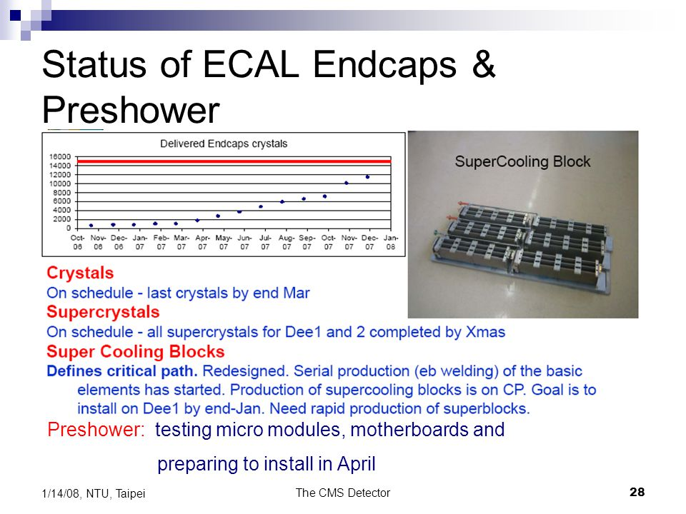 Status of ECAL Endcaps & Preshower