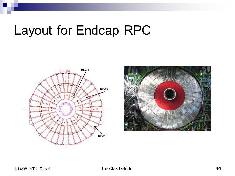 Layout for Endcap RPC 1/14/08, NTU, Taipei The CMS Detector