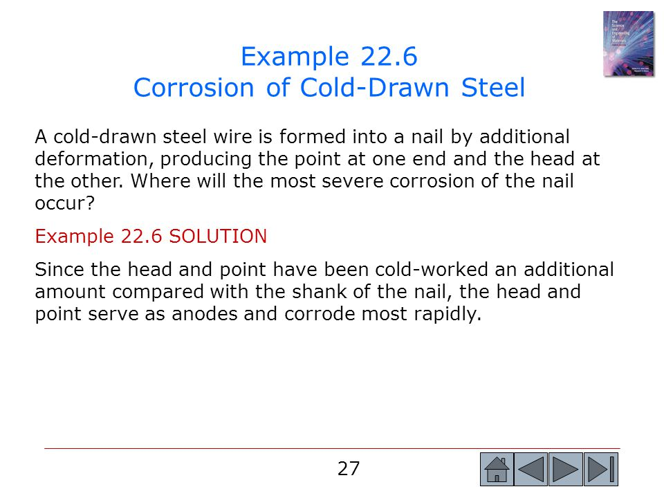 Example 22.6 Corrosion of Cold-Drawn Steel