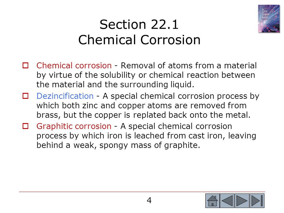 Section 22.1 Chemical Corrosion