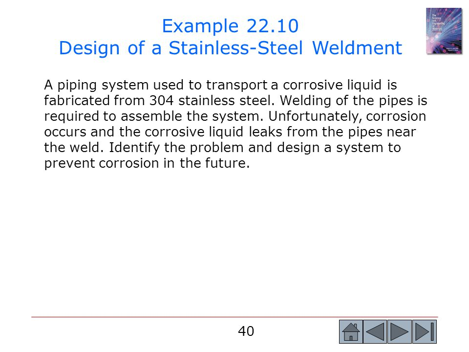 Example 22.10 Design of a Stainless-Steel Weldment