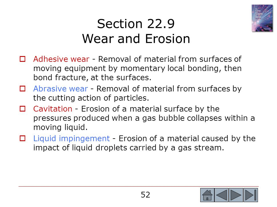 Section 22.9 Wear and Erosion