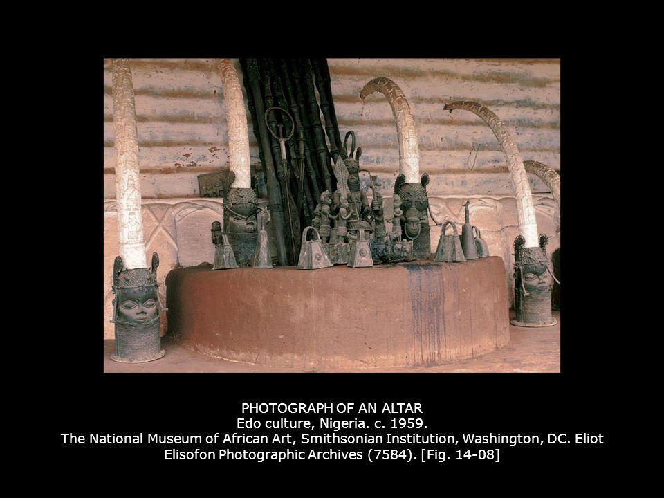 PHOTOGRAPH OF AN ALTAR Edo culture, Nigeria. c. 1959