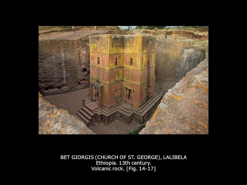 BET GIORGIS (CHURCH OF ST. GEORGE), LALIBELA Ethiopia. 13th century
