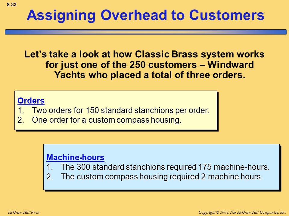 Assigning Overhead to Customers