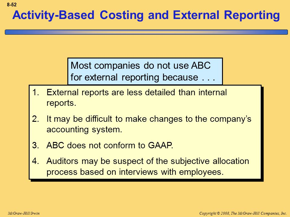 Activity-Based Costing: A Tool to Aid Decision Making - ppt download