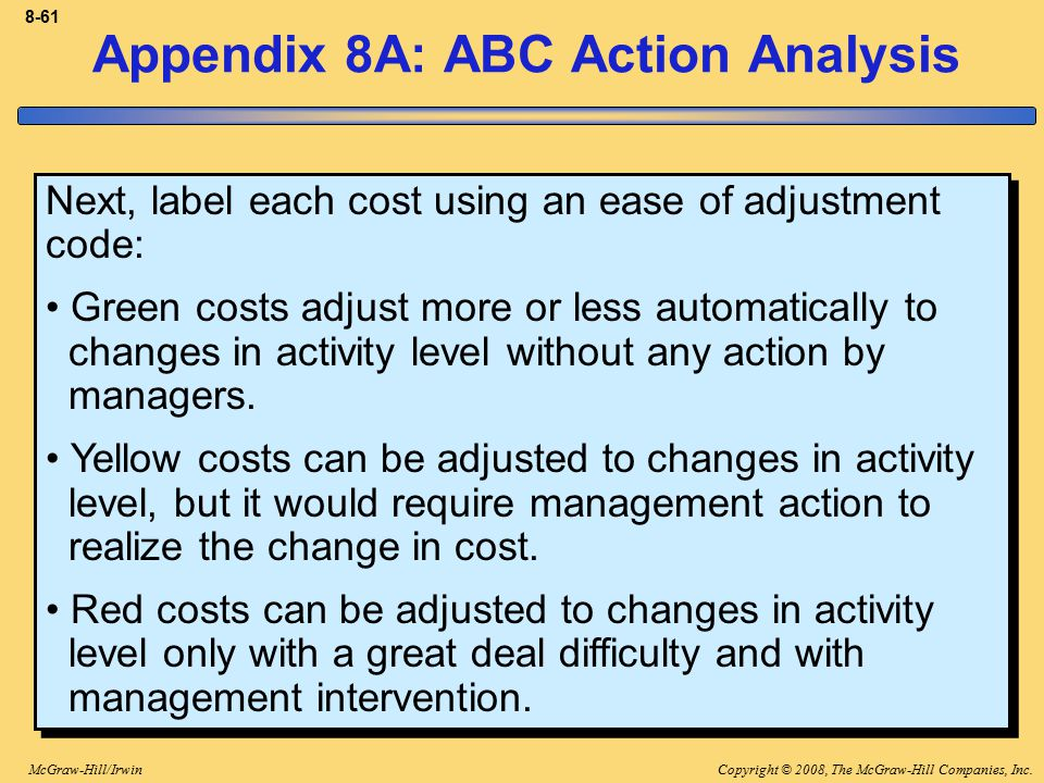 Appendix 8A: ABC Action Analysis