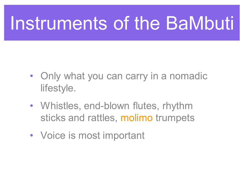 Instruments of the BaMbuti