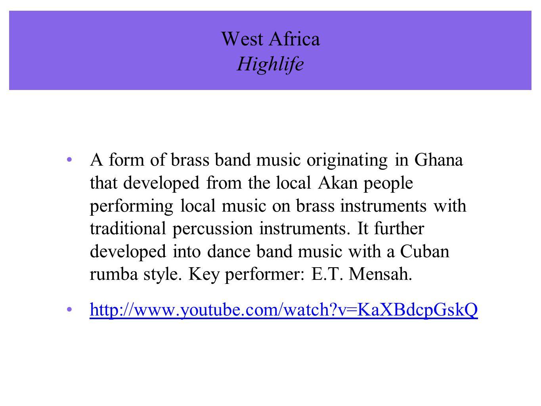 West Africa Highlife
