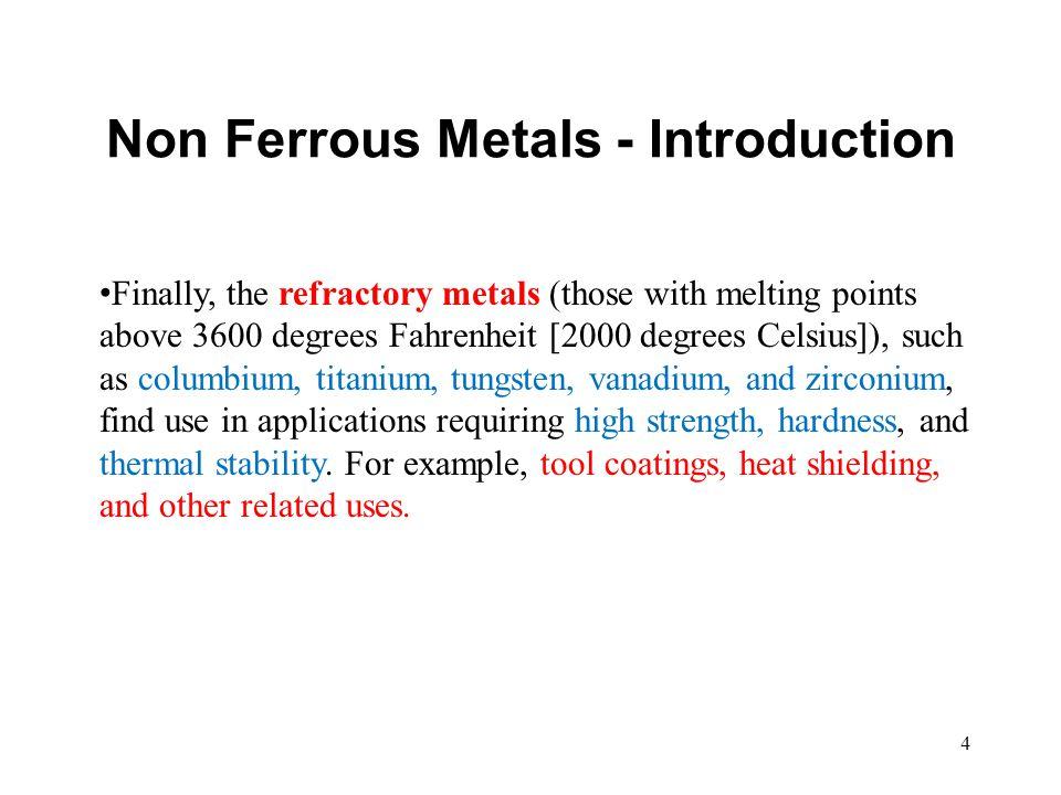 Non Ferrous Metals - Introduction