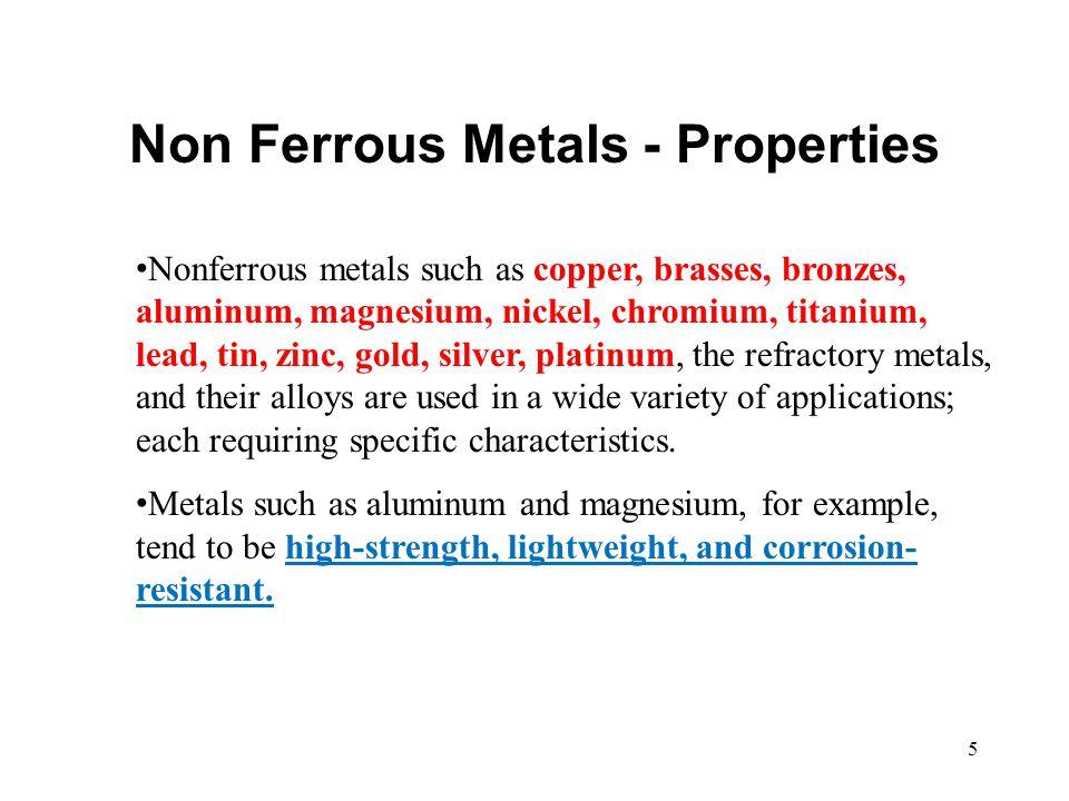 Non Ferrous Metals - Properties