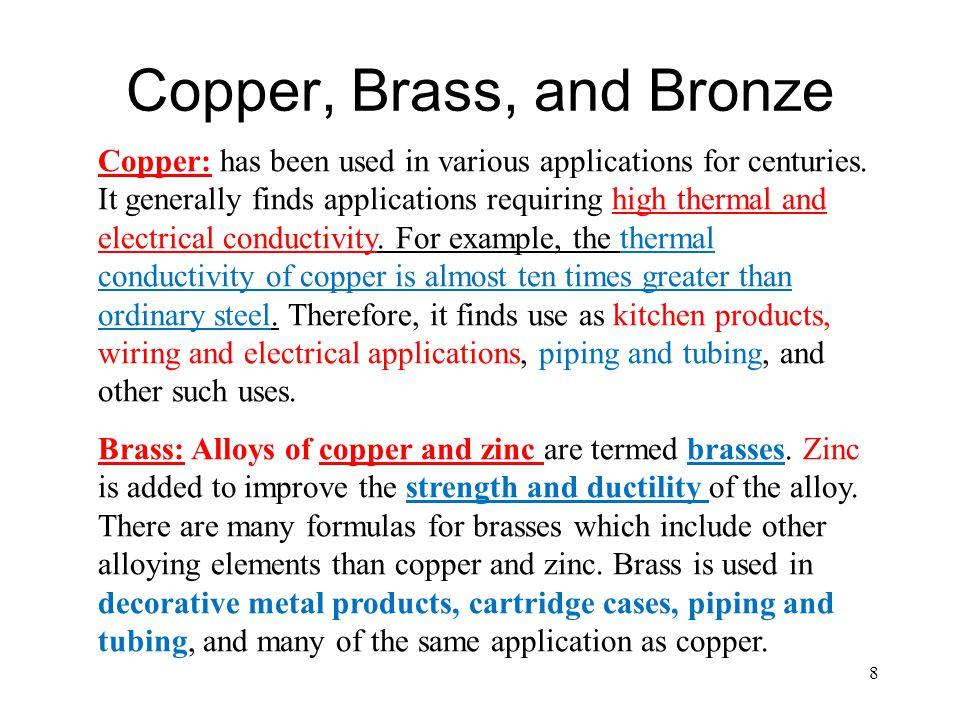 Copper, Brass, and Bronze