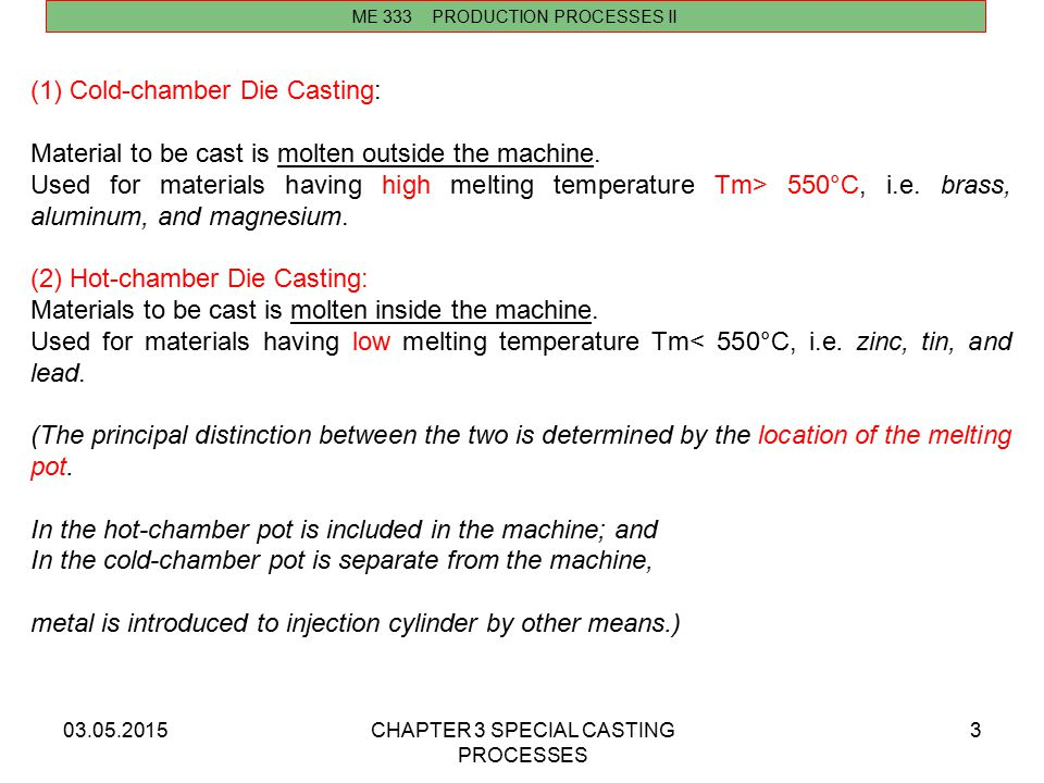 Cold-chamber Die Casting: