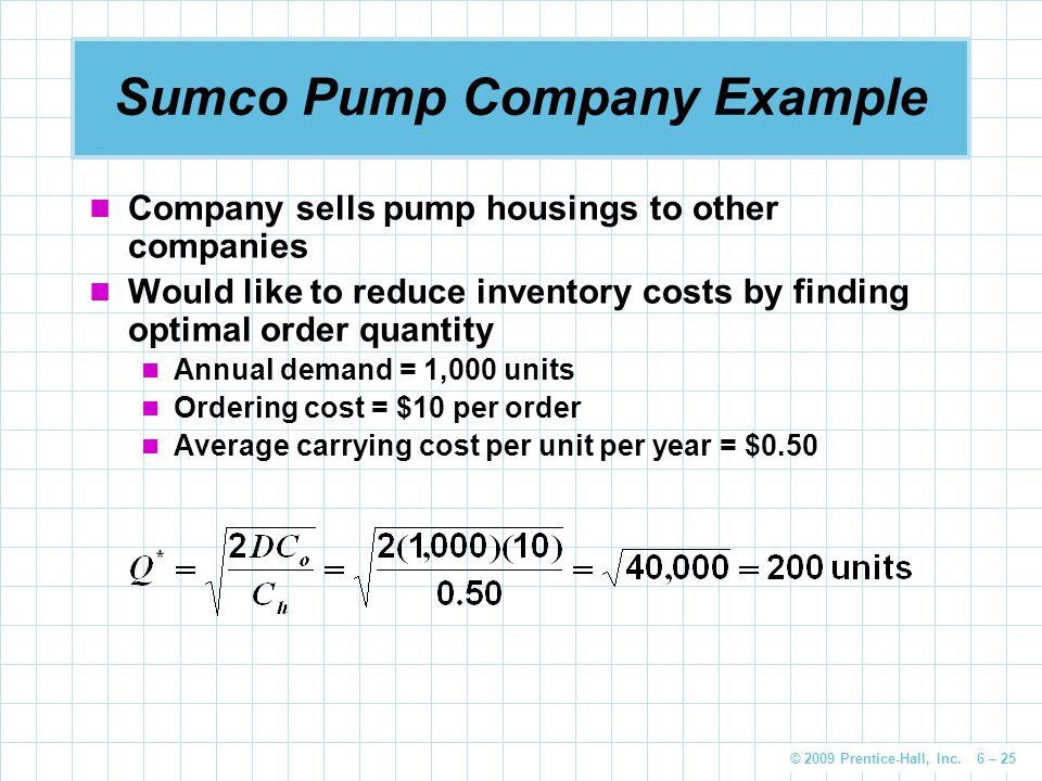 Sumco Pump Company Example