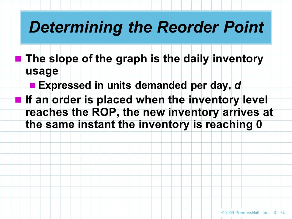 Determining the Reorder Point