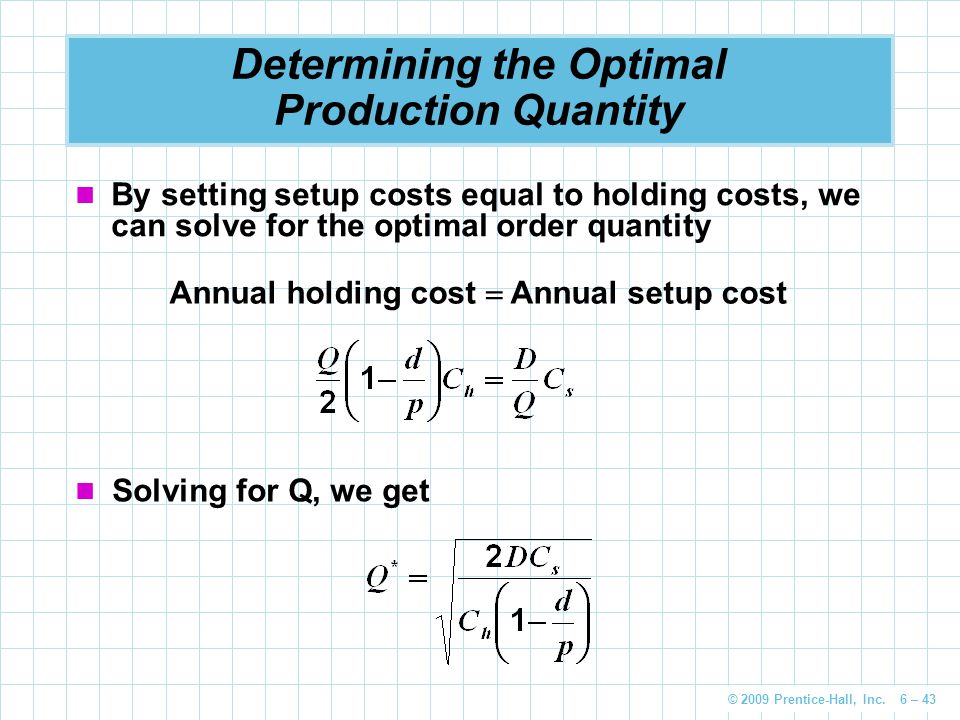 Determining the Optimal Production Quantity