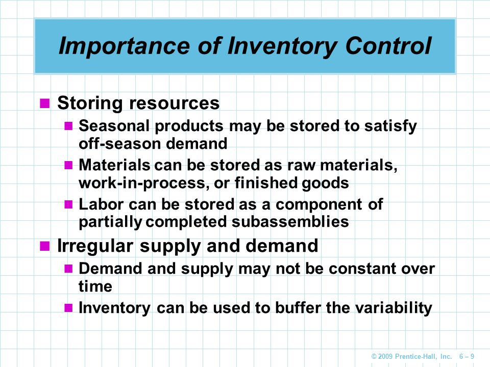 the importance of inventory control The most important role of the inventory in scm is to balance the the role of inventory in supply chain management is to baytcom is the leading.