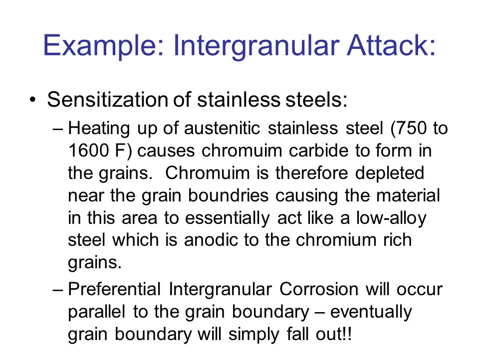 Example: Intergranular Attack: