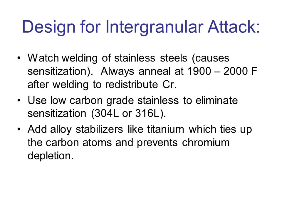 Design for Intergranular Attack: