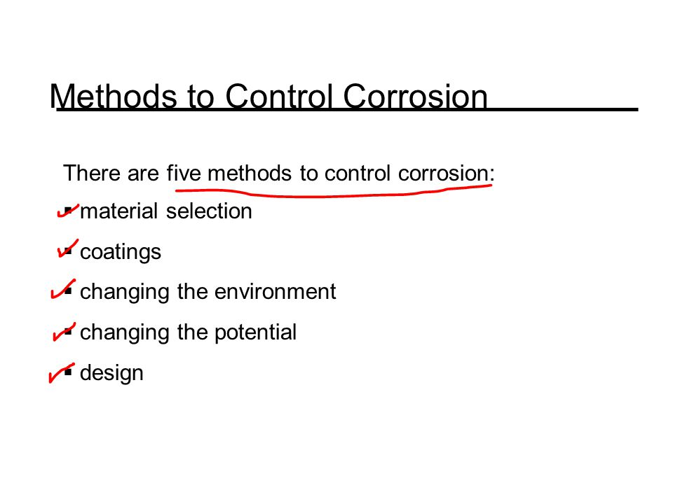 Methods to Control Corrosion