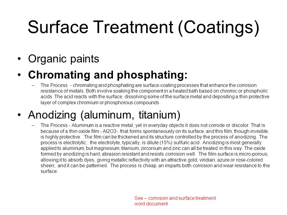 Surface Treatment (Coatings)