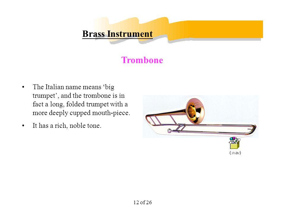 Brass Instrument Trombone
