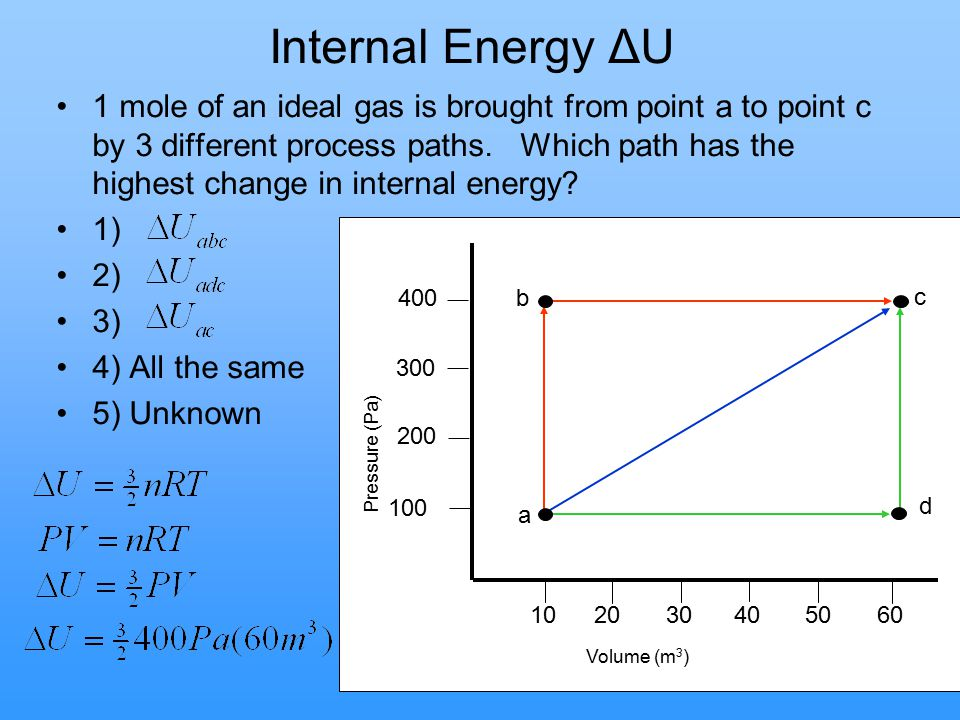 Internal Energy ΔU