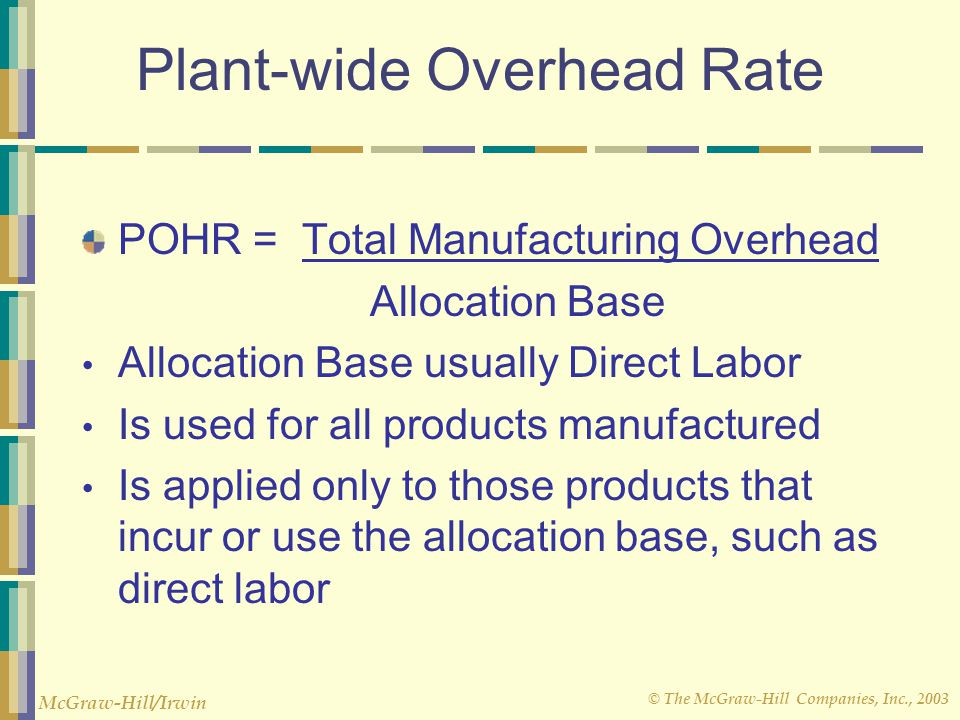 Plant-wide Overhead Rate