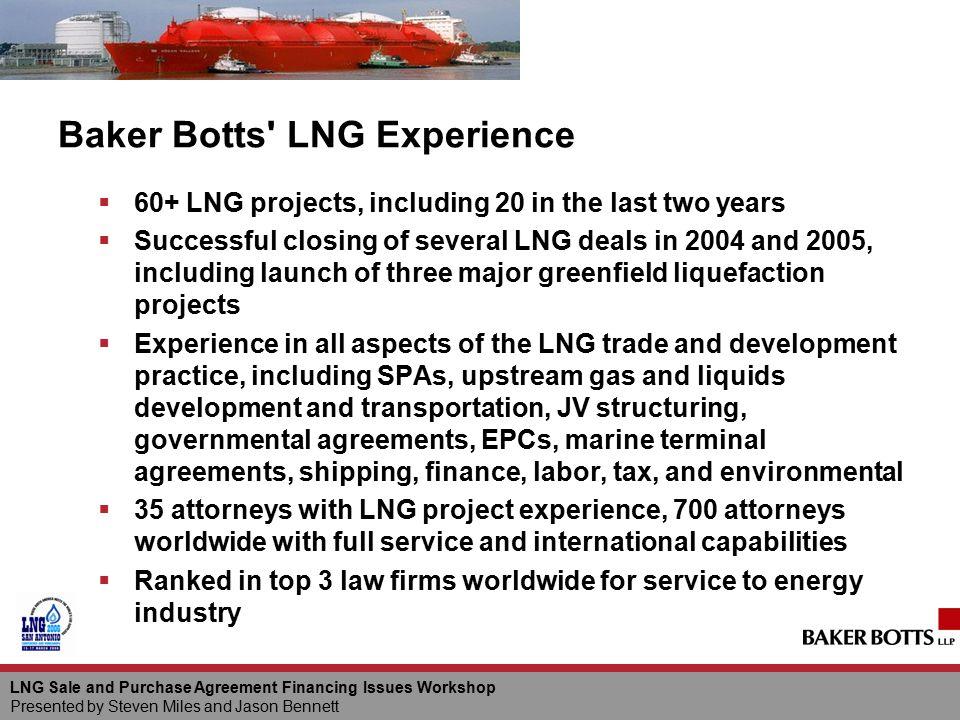 Baker Botts LNG Experience