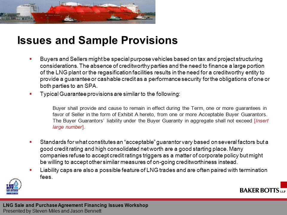 Issues and Sample Provisions