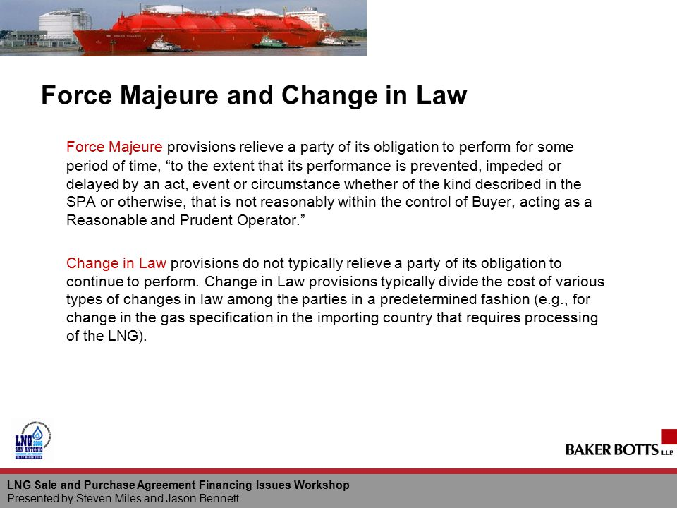 Force Majeure and Change in Law