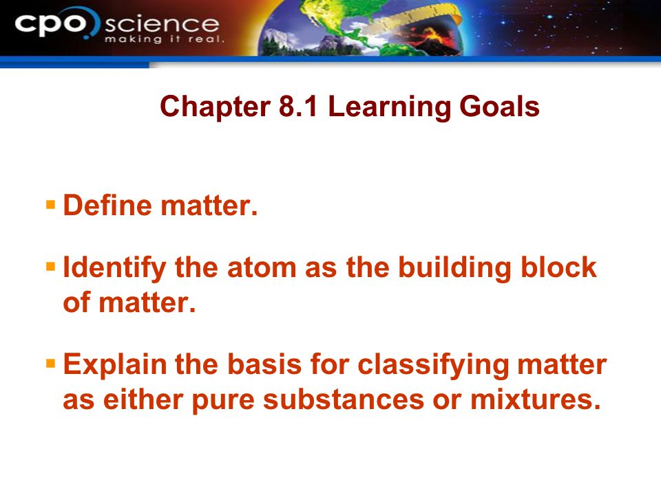 Chapter 8.1 Learning Goals
