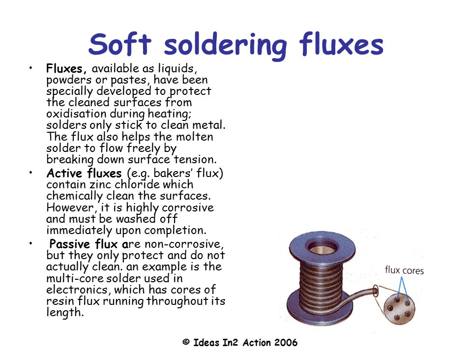 Soft soldering fluxes