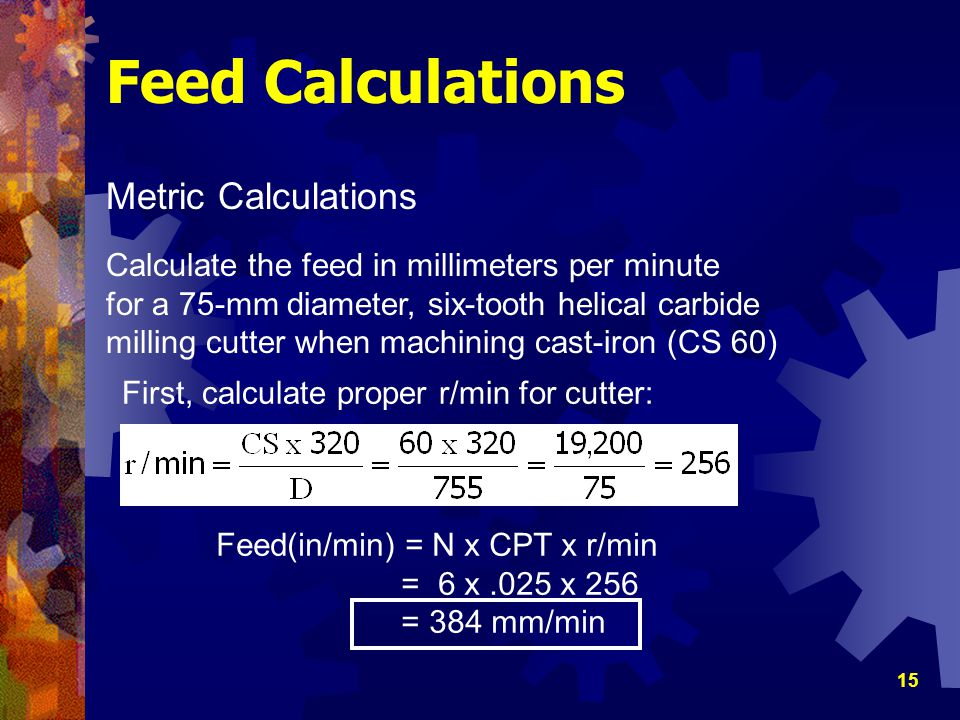 Feed Calculations Metric Calculations